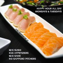 Orange County's Best Happy Hour Sushi World Albacore Salmon Cypress All Day Mondays Tuesdays