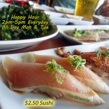 Orange County Best Happy Hour OC Sushi World All Day Mondays and Tuesdays