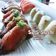 Sushi World Orange County OC Best Happy Hour Peppered Salmon Escolar Yellowtail Albacore