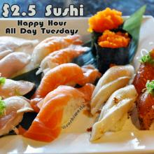 Peppered Salmon Escolar Albacore Masago Yellowtail Natto Shrimp Orange County Happy Hour OC Cypress