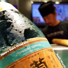 Kikusui Junmai Sake Weekend Happy Orange County OC Sushi World Chef best