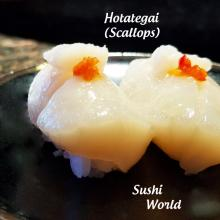 Hotategai Scallops Raw Sushi Specials Board Orange County OC Sushi Bar
