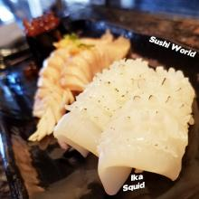 Ika Squid Sushi Unique Different Crunchy Orange County Sushi World OC Education