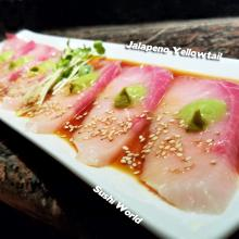 Carb Free Jalapeno Yellowtail Sushi World Orange County Best in OC