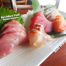Orange County Sushi Sashimi Sampler Red Snapper Tuna Yellowtail Healthy Cypress OC