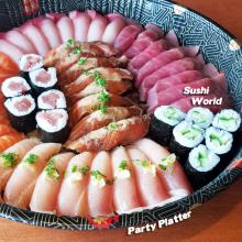 Orange County Sushi Party Platter Tuna Tekka Maki Yellowtail Albacore Peppered Salmon