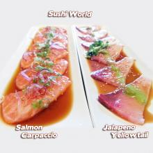No Carbs Salmon Carpaccio Jalapeno Yellowtail Ready for Summer Orange County OC Sushi World