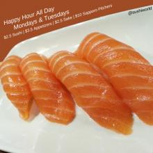 Salmon Orange County's Best Happy Hour OC Sushi World Cypress Garden Grove Stanton Anaheim