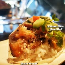 Salmon Skin Hand Rolls Orange County's Best Happy Hour All Day OC Sushi World