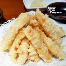 Snow Crab Leg Meat Tempura Fried Appetizer Sushi World Orange County OC