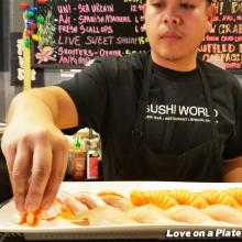 Orange County Sushi Chef Love Plate Cherry Salmon Albacore OC Sushi World