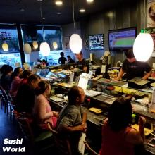 Sushi Chefs Bar Interact Fun Order Directly Orange County OC Sushi World