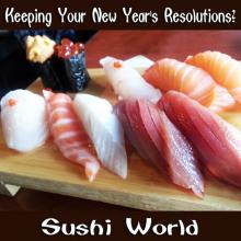 Scallop Salmon Belly Tuna Conch Red Snapper Uni Resolutions New Years Sushi World Orange County OC