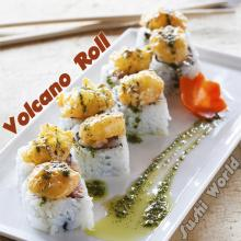 Volcano Roll Spicy Tuna Roll Rock Shrimp Tempura Basil Oil Orange County OC Sushi World