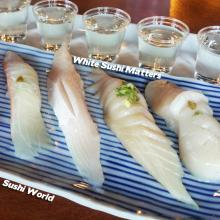 White Sushi Matters Red Snapper Yellowtail Albacore Belly Jumbo Scallop Orange County OC