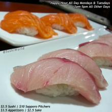 Best Happy Hour Orange County OC Yellowtail Salmon Sushi World All Day Mondays Tuesdays