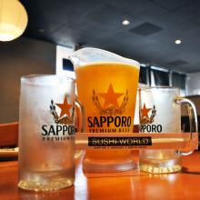 OC Sapporo Pitcher Japanese Beer Best Happy Hour Orange County Sushi World