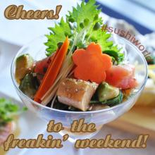 Cheers to the freakin' weekend hawaiian tuna poke albacore big eye tuna Sushi World OC Orange County
