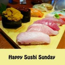 Happy Sushi Sunday Omakase Blue Fin Tuna Tora Toro Red Snapper Uni Sushi World Orange County OC