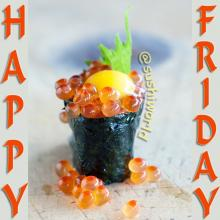Salmon Roe Sushi Quail Egg Happy Friday Orange County OC Cypress Sushi World
