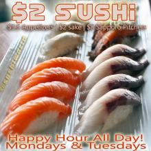 Best OC Orange County Happy Hour Sushi Sake Appetizers All Day Mondays Tuesdays Sushi World Cypress