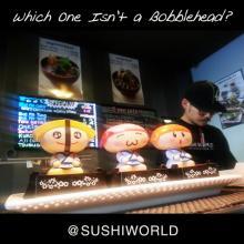 Sushi Chef James Bobblehead Japanese Cute Toys Cypress Orange County OC Sushi World