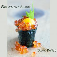 Eggcellent Ikura Salmon Roe Egg Quail Sushi World Orange County OC Cypress