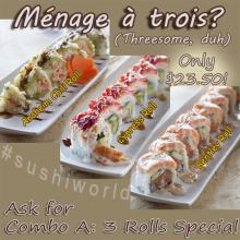 Sushi Roll Combo Anaheim Chili Cypress Bentley Rolls Orange County OC Sushi World