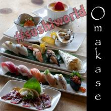 Best Omakase in Orange County 11 pieces of sushi ankimo monkfish liver beef tataki oyster Crème Brûlée OC Sushi World
