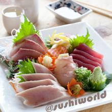 Orange County OC Sashimi Sample Albacore Yellowtail Salmon Red Snapper Tuna Sushi World