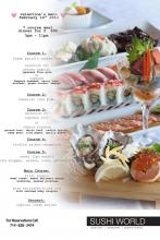 Orange County Valentine's Day Dinner 2014 Sushi World OC Prix Fixe 7 course Meal