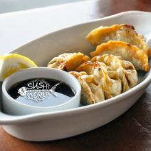 Chicken Gyoza Appetizers Orange County OC Best Happy Hour All Day Tuesdays Cypress Sushi World