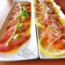 Salmon Carpaccio Jalapeno Yellowtail Low Carb Cypress Orange County OC Sushi World