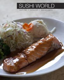 Salmon Teriyaki Lunch time special in Cypress